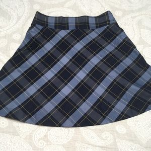 New without tags blue plaid skirt Lands' End
